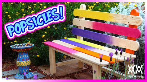 popsicle stick bench fun  colorful diy project