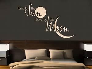 Wandtattoo Wall Art : wandtattoo live by the sun love by the moon ~ Sanjose-hotels-ca.com Haus und Dekorationen