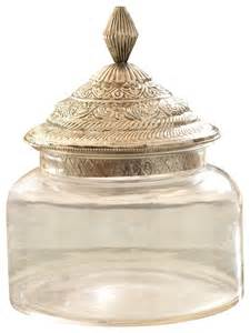 kitchen canisters glass morocco glass canister traditional kitchen canisters and jars