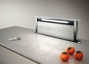 Refrigerateur Sous Plan De Travail : hotte escamotable sous plan de travail elica adagio avec parement en verre blanc cuisine ~ Farleysfitness.com Idées de Décoration