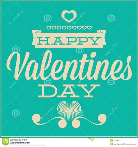 Greeting Card For Valentines Day. Blue Background Stock ...
