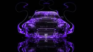 Mitsubishi Lancer Evolution 8 JDM Fire Abstract Car 2013