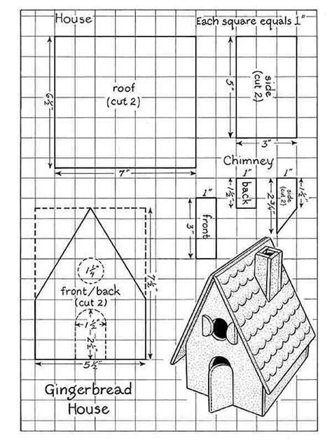page  gingerbread house patterns paper gingerbread