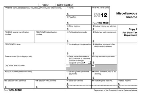 download 1099 misc form 2012 for free formtemplate