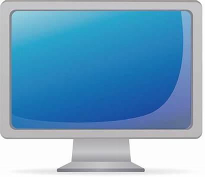Computer Clipart Monitor Transparent Screen Dell Vector