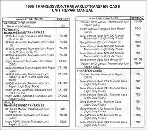 1996 Gm Car  U0026 Truck Transmission Overhaul Manual Original