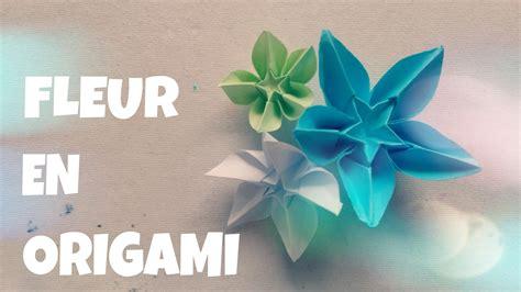 faire une fleur en papier origami facile