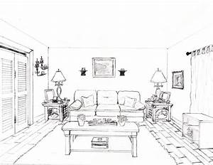 How To Draw A 1 Point Perspective Bedroom Image Gallery ...