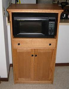 Hand Crafted Microwave Cabinet by Joey's Custom