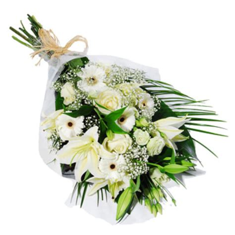 white floral funeral bouquet funeral flowers