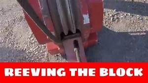 Reeving The Three Sheave Block With Six Parts Of Line
