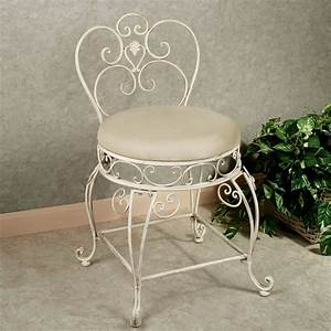 aldabella, creamy, gold, upholstered, vanity, chair
