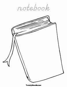 Notebook Coloring Page Coloring Pages