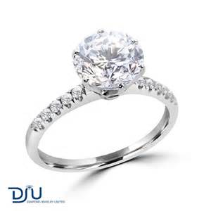2 carat engagement ring 2 05 carat f vs2 solitaire engagement ring set in 14 karat solid white gold