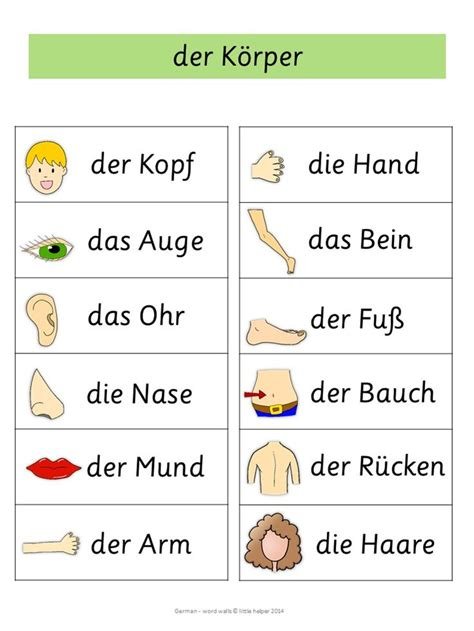 German Word Walls  Basic Vocabulary  Words, German Words And Word Walls