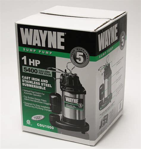 sump pump wayne guide does