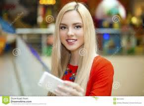 selfie beautiful woman young beautiful blond woman taking selfie with mobile