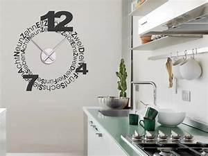 Design wandtattoo uhr wanduhren design wandtattoos wanduhren for Wanduhren küche