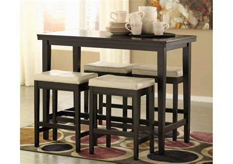 rectangle high top table kimonte rectangular counter height table w 4 ivory 4538