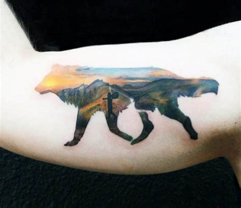 silhouette wolf tattoo  andrea morales post
