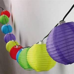Solar Lichterkette Lampions : geschenkwichtel solar lampion kette mit 10 bunten lampions ~ Buech-reservation.com Haus und Dekorationen
