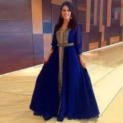 robe dubai mariage 2016 arabic muslim sleeves robe de mariage vestido dubai moroccan royal blue caftan