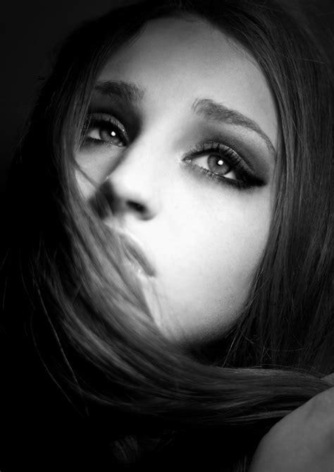black  white photography sad girl black white
