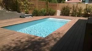 piscine traditionnelle a arcachon avec un liner gris clair With piscine avec liner gris