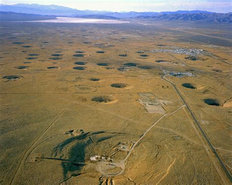 test site nevada test site atom bomb craters photograph by los