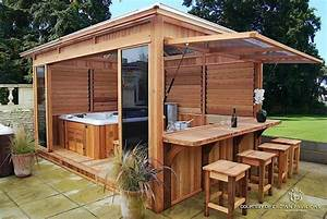 hot tub spa enclosure flexofence louver system With ordinary amenagement terrasse exterieure design 5 20 idees pour la pergola design sur le toit