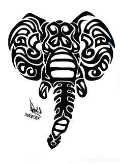 elephant tribal tattoo stencils images elephant