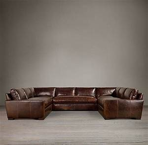 leather sectionals restoration hardware and u shaped With u shaped sectional sofa restoration hardware