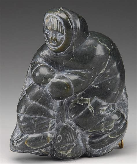 Eskimo Soapstone Carvings by Carving Inuit Tukai Salaisie Soapstone Eskimo