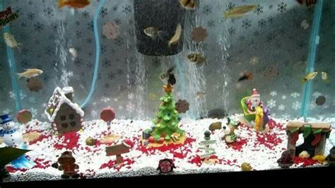 christmas fish tank fish and tanks pinterest