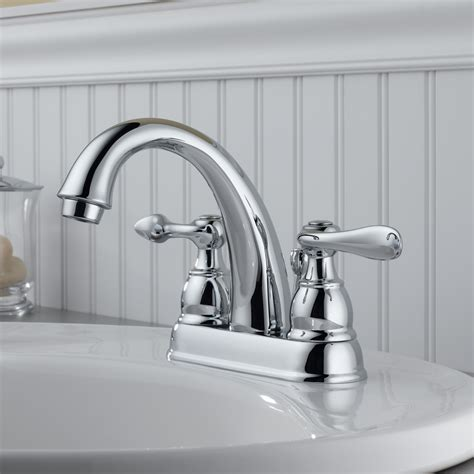 delta windemere centerset bathroom faucet  metal pop