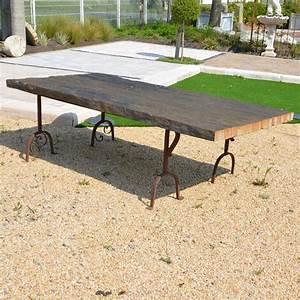 Table Jardin Fer Forgé : table de jardin en schiste et fer forg bca mat riaux ~ Dailycaller-alerts.com Idées de Décoration
