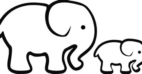 mind blowing method  elephant clipart outline songkle