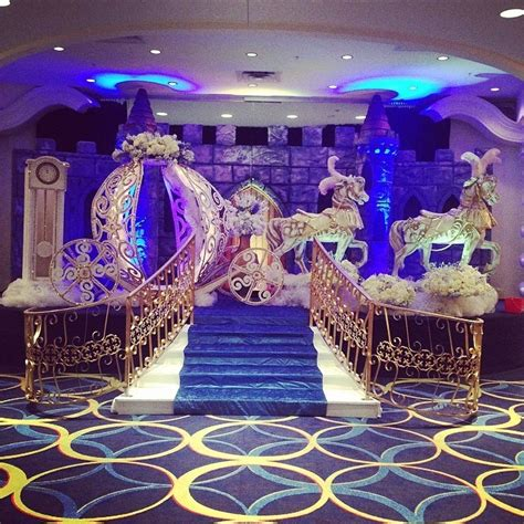 Quinceanera Decorations For by Cinderella Themed Venue Decorations For A Happily