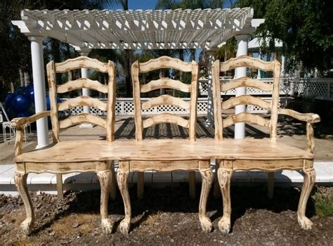 made from 3 reclaimed chairs alexandrias benches