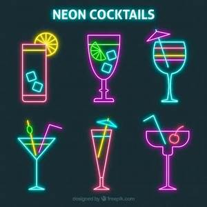 Neon Vectors s and PSD files