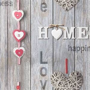 Fine Decor Love Your Home Wallpaper