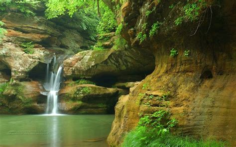 Nature Free Wallpaper by Waterfall Pond Nature Wallpaper Wallpup
