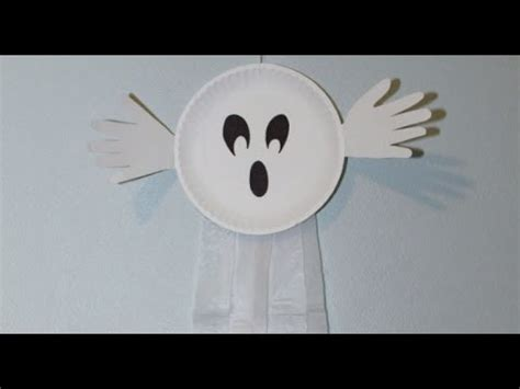 paper plate ghost paper plate ghosts 2636