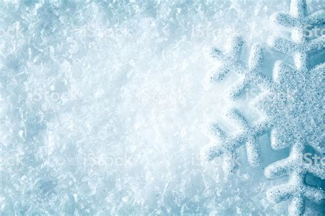 Winter Winter Background Snowflake by Snowflake On Snow Blue Snow Flake Crystals Winter