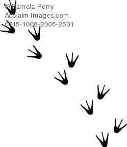 bird footprint clipart clipground
