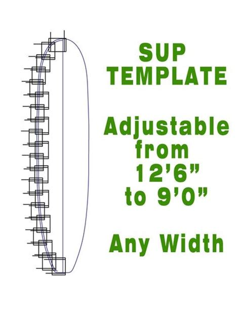 Paddle Template by Stand Up Paddleboard Outline Template Greenlight Surf Supply