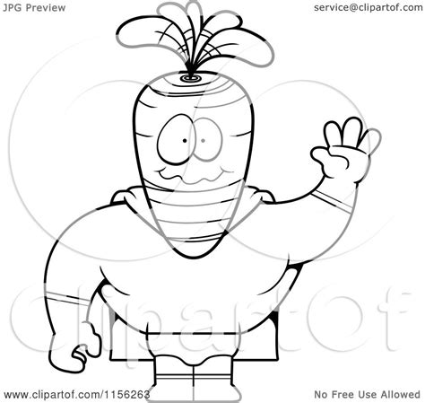 Free Coloring Pages Of Carrot Template