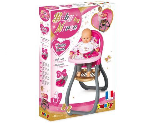 chaise haute smoby bn chaise haute baby accessoires de poupées