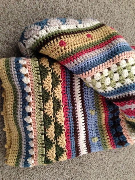 Mixed Stripe Blanket Crochet Pattern