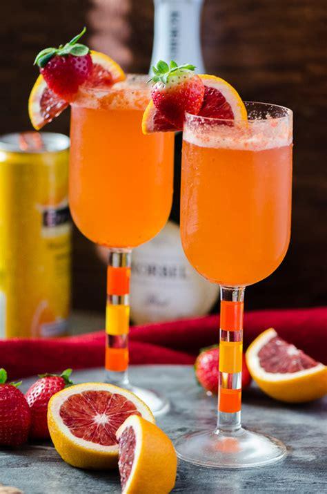 chagne mimosa recipe strawberry blood orange mimosa